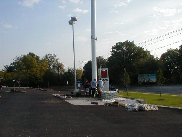 Flagpole Installation In Greater Danbury Ct Aluminium