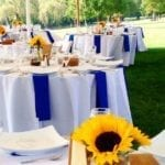 spring wedding tent rental and venue